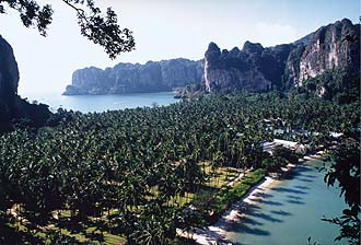 Krabi: Rai Lay Peninsula from viewpoint