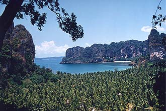 Krabi: Rai Lay West Beach from viewpoint