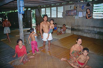 Iban Longhouse Family 2