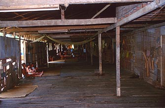Iban Longhouse Interior