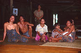 Iban Longhouse People 1