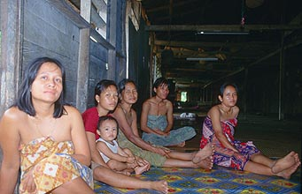 Iban Longhouse People 2