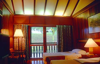 Sarawak Batang Ai Reservoir and Hilton Longhouse Resort room