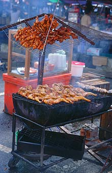 Sarawak Serian barbecue on the market