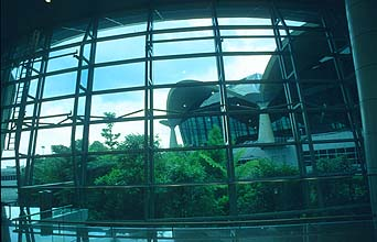 KLIA main building with rainforest panorama