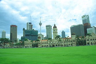 Sultan Abdul Samad Building and KL Tower panorama