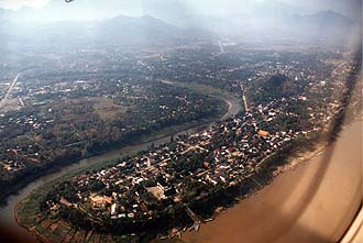 Luang Prabang from aircraft