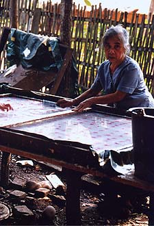 Production of Lao Paper, Luang Prabang