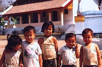 Young citizens of Luang Prabang