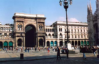 Outside Galleria Vittorio Emanuele