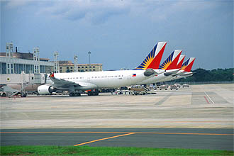 Manila Ninoy Aquino International Airport PAL aircrafts