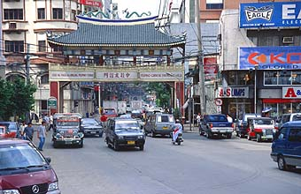 Manila Chinatown and Filipino-Chinese friendship arch