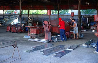 Sarao Motors jeepney factory preparation of body parts