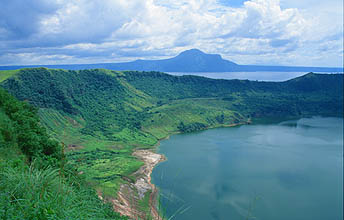 Taal Volcano: volcanic island with crater lake