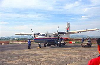 Miri Airport Malaysia Airlines Rural Air Services Twin Otter aircraft