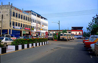 Miri Batu Niah city centre with bus station