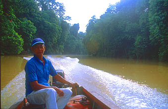 Miri boat transfer from Batu Niah to Niah Caves National Park