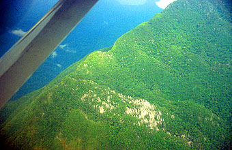Gunung Mulu National Park view on the pinnacles from aircraft 1