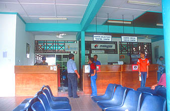 Mulu Airport check-in counter