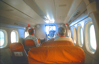 Mulu Airport passenger cabin of Malaysia Airlines Rural Air Services Twin Otter aircraft