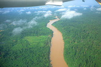 Mulu Tutoh River from aircraft