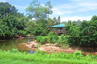 Mulu canteen restaurant across the river from the national park headquarters