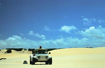 Natal: driving through sand-dune-fields