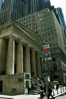 NYC_New_York_Federal_Hall_National_Memorial_facing_Wall_Street
