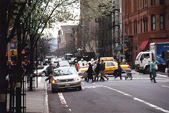 NYC_New_York_West_50th_Street_in_springtime