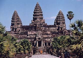 Angkor Wat with monks, Siem Reap