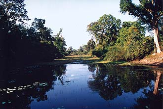 water canal in Angkor, Siem Reap