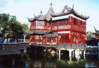 Shanghai: the tea house in the old Chinese city