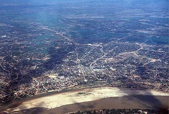 Vientiane from aircraft