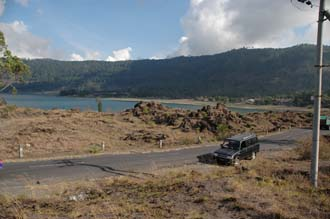 DPS Bali Mount Batur view on Kedisan village and road to Toya Bungkah near Lake Batur 3008x2000