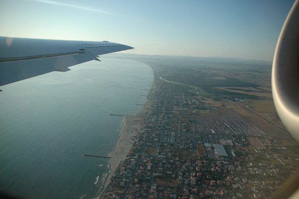 Lido di Ostia Italy  City pictures : ... , Rome, Italy / FCO Rome Lido di Ostia from aircraft 3008x2000