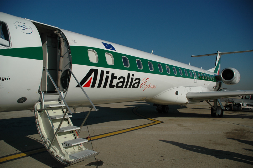 FCO Rome Fiumicino Airport - Alitalia Express Embraer aircraft 01 3008x2000