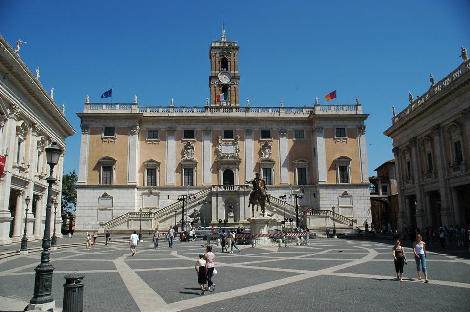 FCO Rome - Piazza del Campidoglio with the Palazzo Senatorio 02 3008x2000