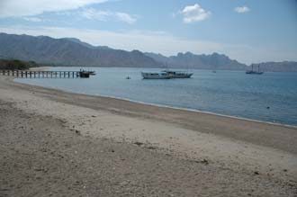 BMU Komodo Island Ombak Putih Komodo National Park UNESCO world heritage site beach with pier 2 3008x2000