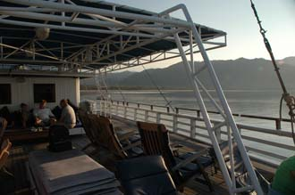 BMU Komodo Island Ombak Putih sailing ship upper deck after sunrise 2 3008x2000