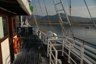 BMU Komodo Island Ombak Putih sailing ship upper deck after sunrise 3 3008x2000
