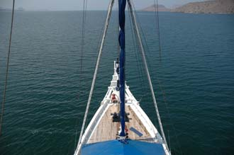 BMU Komodo Island Ombak Putih sailing ship view from second mast 1 3008x2000
