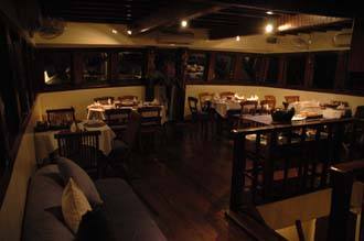 AMI Lombok Senggigi Ombak Putih dining room by night 3008x2000