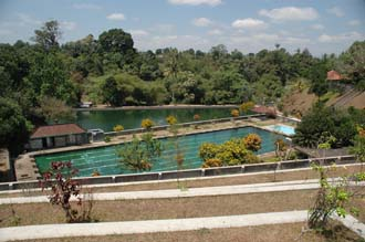 AMI Lombok Taman Narmada Park Water Palace panorama with 2 big swimming pools 3008x2000